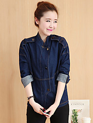 Sign small fragrant wind Slim short-sleeved denim jacket denim jacket zipper
