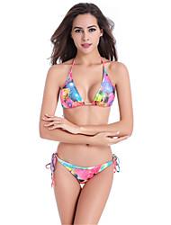 Women's Fashion Sexy Padded Printed Nylon Spandex Bikinis