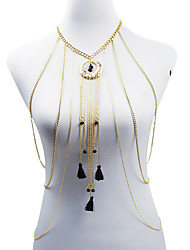 Женский Украшения для тела Цепь Тела / Belly Chain Мода Богемия Стиль Сплав Геометрической формы Белый Черный Синий Бижутерия ДляДля