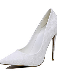 Feminino-Saltos-Sapatos clube-Salto Agulha-Branco-Courino-Casamento