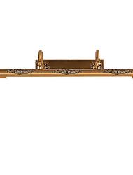 Lampe à miroir 80cm 15w led intégrée traditionnelle ancienne fonction en laiton antique pour led