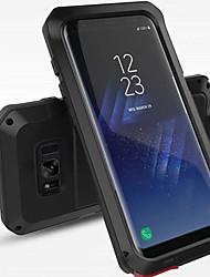 Для Чехлы панели Защита от удара Защита от влаги Чехол Кейс для Один цвет Твердый Металл для Samsung S8 S8 Plus