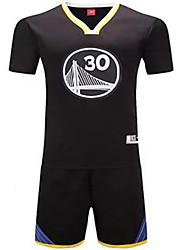 Муж. Короткие рукава Баскетбол Джерси + велошорты Шорты Дышащий Белый Черный Синий L XL XXL XXXL
