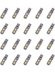 20pcs t10 9 * 5050 smd tabula rasa décodage led voiture ampoule lumière blanche dc12v