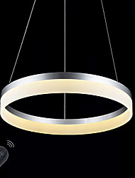 Dimmable LED Ring Acrylic Ceiling Pendant Lights Lamp Indoor Chandeliers Light Lighting 22W with Remote Control