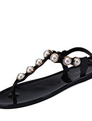 Women's Sandals Spring Summer Comfort Customized Materials Outdoor Dress Casual Flat Heel Beading