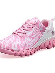Baskets féminins printemps automne confort couple chaussures pu extérieur athlétique casual rougissant rose vert