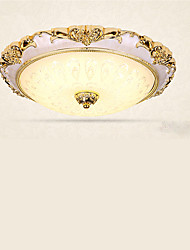 Flush Mount ,  Modern/Contemporary Electroplated Feature for LED Metal Living Room Bedroom Study Room/Office Kids Room Hallway