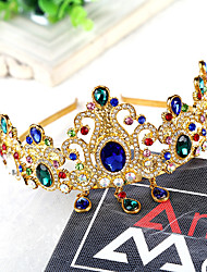 Pearl Rhinestone Alloy Headpiece-Wedding Special Occasion Tiaras 1 Piece