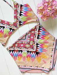 Bikinis Couleur Pleine Licou Nylon