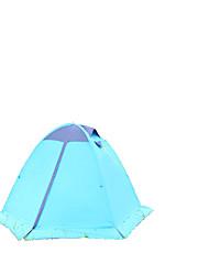 2 Personen Zelt Doppel Falt-Zelt Einzimmer Camping Zelt 2000-3000 mm Aluminium Oxford Polyester-TaftFeuchtigkeitsundurchlässig