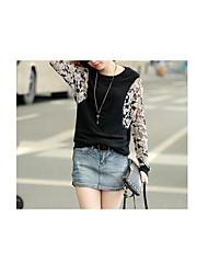 Damen Solide Niedlich Urlaub T-shirt,V-Ausschnitt Ärmellos Polyester