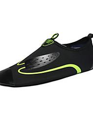 Mocassins masculins&Slip-ons été confort chaussures couple semelles légères tissu extérieur noir / bleu noir / vert chaussures en