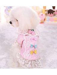 Cães Vestidos Roupas para Cães Da Moda Casual Princesa Roxo Rosa claro