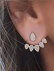 Women's Stud Earrings Front Back Earrings Rhinestone Costume Jewelry Fashion Euramerican Alloy Teardrop Jewelry For Party Daily