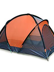 JUNGLEBOA 2 Pessoas Tenda Duplo Barracas para Acampamento Família Um Quarto Barraca de acampamento >3000mmAlúminio Oxford Poliéster