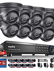 SANNCE® 16CH Onvif Supported 1080P HD DVR Home Surveillance Security CCTV System with Night Vision Monitor Waterproof 1TB