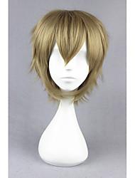 Short Straight Kagerou Project-Amamiya Hibiya Blonde Synthetic 14inch Anime Cosplay Wig CS-175C