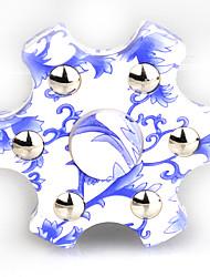 Toupies Fidget Spinner à main Jouets Six Spinner ABS Plastique EDCPour le temps de tuer Focus Toy Soulage ADD, TDAH, Anxiété, Autisme