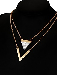 Women's Pendant Necklaces Geometric Turquoise Alloy Unique Design Geometric Jewelry For Party Daily Casual 1pc