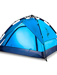 3-4 persons Tent Double Automatic Tent One Room Camping Tent 2000-3000 mm Fiberglass Oxford Waterproof Portable-Hiking Camping-