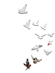 Animaux Stickers muraux Miroirs Muraux Autocollants Autocollants muraux décoratifs,Verre Matériel Décoration d'intérieur Calque Mural