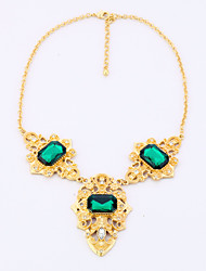 Women's Strands Necklaces Geometric Chrome Personalized Luxury Dark Green Jewelry For Wedding Congratulations 1pc