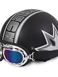 Unisex New Summer Vintage Motorcycle Helmets Open Face Half Motorbike & Goggles Helmet