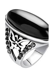 Maxi anel Anel Original Vintage Personalizado Euramerican Jóias de Luxo Bijuterias Destaque Moda Resina LigaForma Redonda Forma