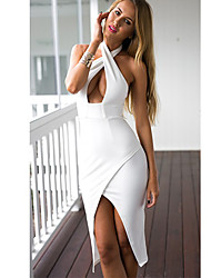AliExpress explosion models 2015 new listing Europe suspenders sexy low-cut dress dress hollow spot
