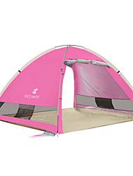 3-4 Personen Zelt Einzeln Automatisches Zelt Einzimmer Camping Zelt 1500-2000 mm KohlefaserFeuchtigkeitsundurchlässig Wasserdicht