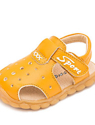 Boys' Baby Sandals First Walkers Cowhide Summer Casual First Walkers Flat Heel White Black Yellow Flat