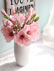 1PC Flower Branch Polyester Azalea Tabletop Flower Artificial Flowers