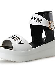 Damen-Sandalen-Outddor Lässig-PU-Keilabsatz-Fersenriemen-