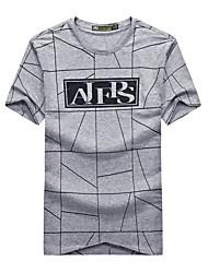 Homme Tee-shirt Camping / Randonnée Respirable Eté Noir Gris