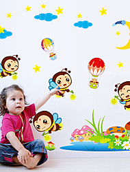 Cartoon Children's Room Wall Stickers The Bee Family Wall Stickers Home And Garden