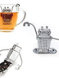 1Pcs  Stainless Steel Cute Robot Tea Infuser Manufacturer Direct Recyclable Tea Strainers Tea Tool