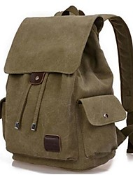 Men Backpack Canvas All Seasons Casual Black Coffee Army Green
