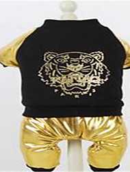 Dog Clothes/Jumpsuit Dog Clothes Casual/Daily Animal Gold Silver