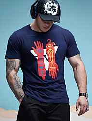 New Mens T shirt Special Hands Printing Fashion Cotton Tshirt for Men Plus Size Leisure T Shirts Men Big Tall O Neck Crew Tops Tees 6020