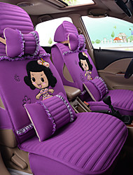 Silk Cloth Cartoon Lovely Woman Car Seat Cushion Car Seat Cover Family Car Seat 5 Seasons General