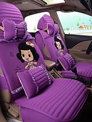 Silk Cloth Cartoon Lovely Woman Car Seat Cushion Car Seat Cover Family Car Seat 5 Seasons General