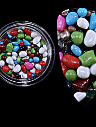 1PC The New  Many Stones Meteorites Grain Small Gravel Nails Decoration  Bottled