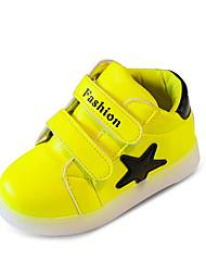 Girls' Baby Athletic Shoes Comfort PU Spring Fall Outdoor Comfort Flat Heel White Yellow Blushing Pink Flat
