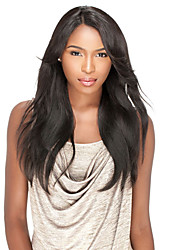 10-26inch lace front wigs perucas retas de seda do laço do cabelo humano para mulheres