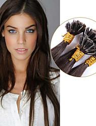 лучший бразильский гвоздь у кончиков кератина слитого наращивания волос 100% человеческий девственница цвет волоса # 3 прямые продажи