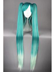 cosplay perruque Synthétique Sans bonnet Perruques Très long Bleu Cheveux