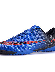 Boys' Athletic Shoes Comfort PU Spring Fall Athletic Soccer Comfort Split Joint Flat Heel Orange Ruby Blue 2in-2 3/4in
