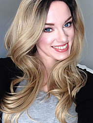 New Arrival Ombre Blonde Wigs Middle Long Wavy Hair Synthetic Wig For Women Heat Resistant Natural Wig