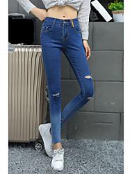 orifício de trepanação pés lápis de jeans pés boca leggings